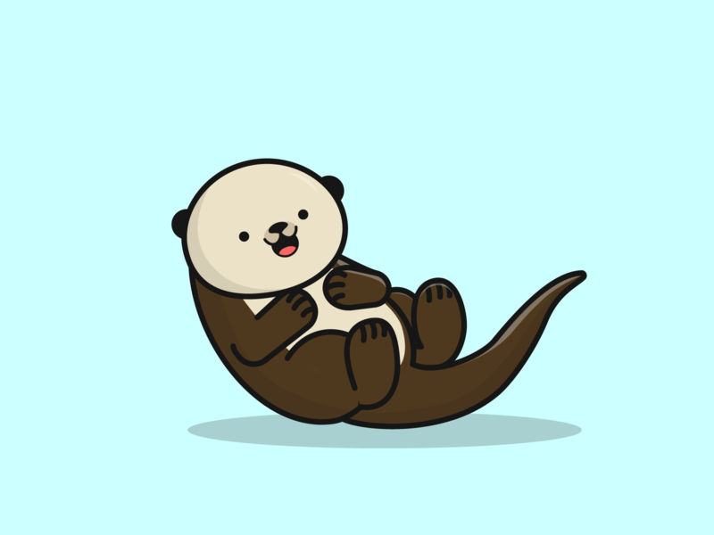 Day 17/100 - Otter otter the100dayproject 100daysofillustration design adobe vector illustration adobe illustrator
