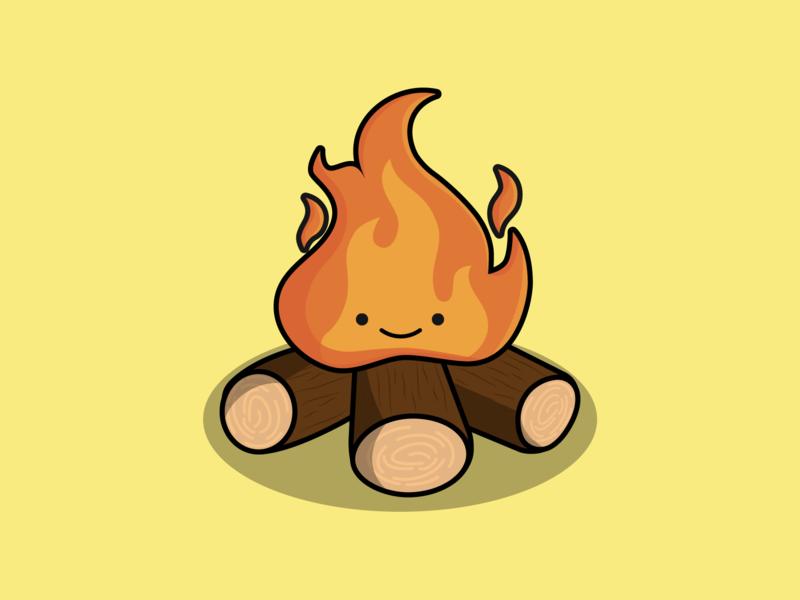 Day 18/100 - campfire fall fire the100dayproject 100daysofillustration design adobe vector illustration adobe illustrator