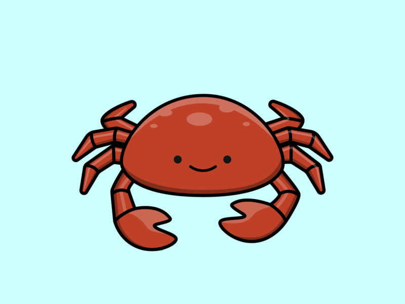 Day 21/100 - Crab the100dayproject 100daysofillustration design adobe vector illustration adobe illustrator