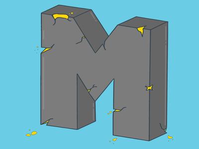 Cracked M