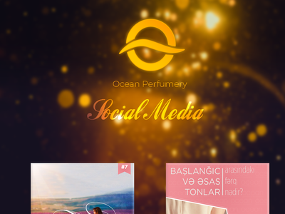Ocean Perfume Social Media projects