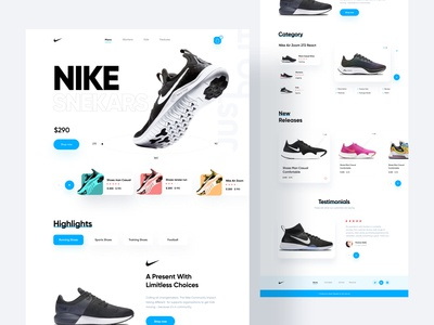 Product Landing Page - Sneaker typography homepage design website design website webdesign uxdesign best design 2020 userinterfacedesign uidesign products product design landing page interface homepage header best designer colorful design buttons best designs