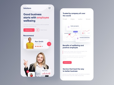 Business Consulting Landing - Mobile Responsive employee engagement consultation hire clean ui service service design design agency best design mobile responsive business growth revenue concept profile employee management landing page design websites adviser employee business owner productivity