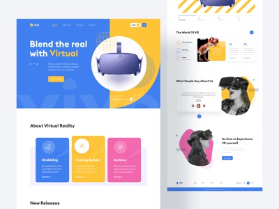 Product Landing Page - UI Design website header web page productdesign virtualreality product landing page ui design creative website design visual design interface design web website design landingpage design homepage design