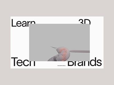 Stylus course 3d animation user interface future modern houdini c4d branding ui ux clean typography minimal design