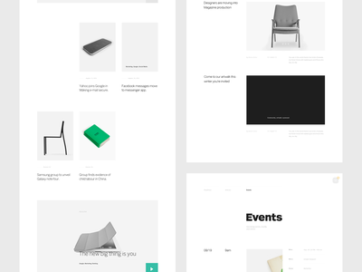 Blog and About Page contemporary ux ui whitespace grid gridbased layout blog about typography