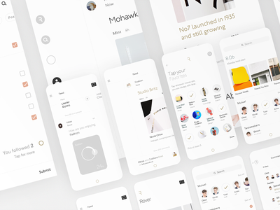 Rover user experience user interface minimal design contemporary mobile ux ui clean modern ios app