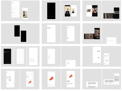 Programme in Progress user experience user interface minimal design contemporary mobile ux ui clean modern ios app