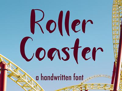Roller Coaster branding design illustration font handwritten handlettering calligraphy