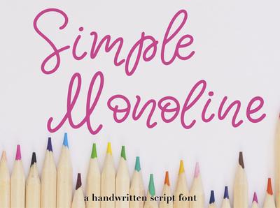 Simple Monoline A Handwritten Script Font