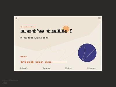 UI Design   Contact Us design ux  ui contact ui figma