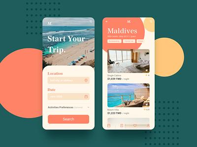 Travel App Design app design web design graphic design ux ui design