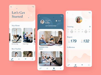 Yoga app   Design mobile design mobile app design uidesign ux ui dailyui design