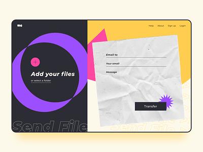 Redesign WeTransfer uiux figma web design ux dailyui ui design