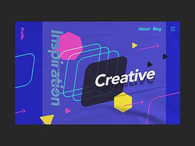 Profile website design uiux branding typography web design figma ui design ui graphic design dailyui design