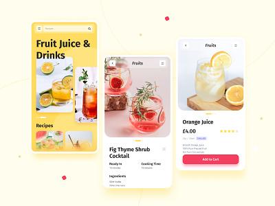 Fruit Website uiux mobile figma web design design ui dailyui branding graphic design