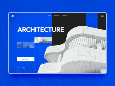 Architecture website moden ui ux graphic design branding figma web design dailyui design