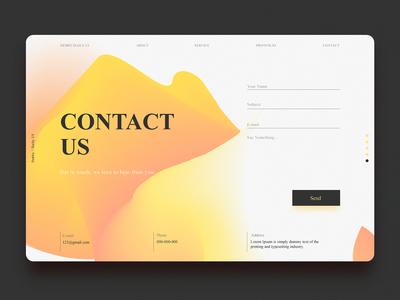 DailyUI#28 - Contact