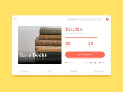 DailyUI#32 - Crowdfunding Campaign