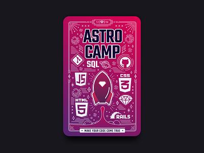 ASTRO Camp card design branding design card graphic design