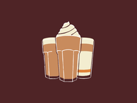 Coffee break coupon illustration