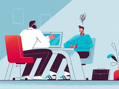 Office candidate recruitment hr plant vector interview ecommerce job office illustration design character design character cartoon art
