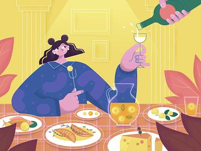 On a diet illustraion illustration happy design character design fireart fireart studio character cartoon art