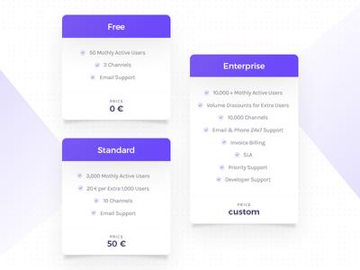 Price List money typography clear simple purple blue light table list price