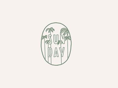 Simple Palm Tree Badge lazy day sunday island fun cute cute illustration minimal illustration minimal design simple design handlettering illustration tropical badge palm tree simple