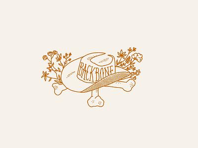 BACKBONE bravery brave backbone confidence confindent grit dessert floral western cowboy cowgirl bones cowboyhat