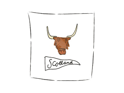 Scotland Illustration handlettering lettering doodle abroad country scotland