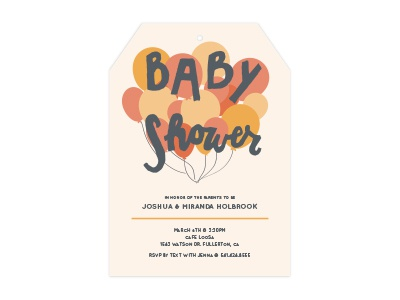 Baby Shower Invite fun summer baby baby shower invitation