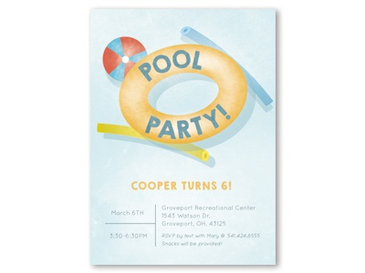 Pool Party Invitation By Becca Pierpoint Dribbble Dribbble
