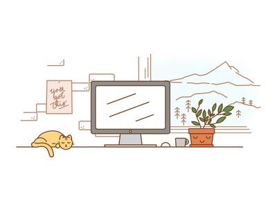 Portland Desktop Scene