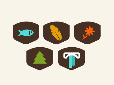 Friends of the Gorge Icon Set icon system icon set hiking pnw gorge nature