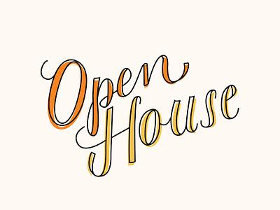 Open House Script font typography handlettering custom script