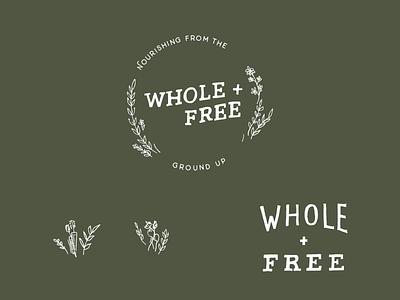 Organic Logo Work healthy mindfulness health logo organic logo