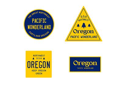 Pacific Wonderland license plate badges oregon