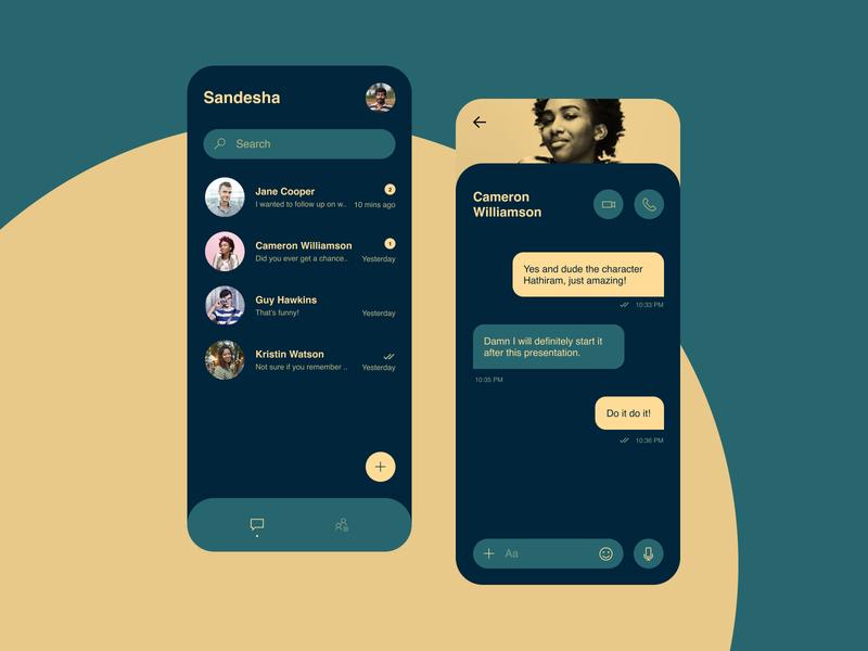 Daily UI 013 - Messaging. figma ui  ux messages messaging daily ui 013 daily 100 challenge daily ui dailyui daily uiux ux ui