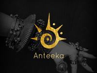 Logo design for Anteeka, a ethnic jewelry company
