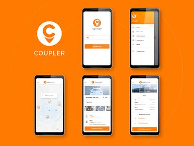 Coupler client app service search app mobile mobile app automation service app frontend development ui ux android app development ui design android app