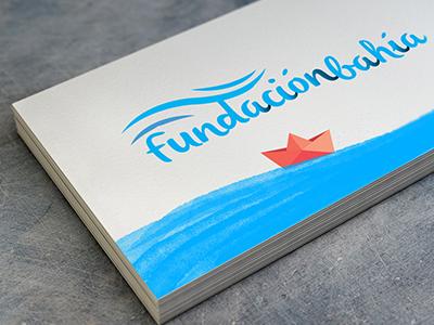 Fundación Bahía water sea branding logo