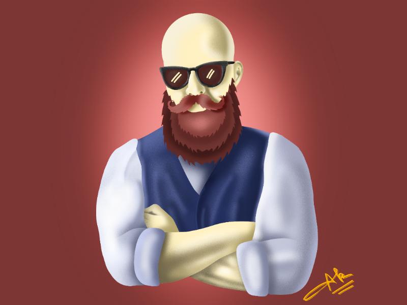 Keep calm and grow beard man drawing beard design vector tracing vectorart digitalart infinite painter procreate illustration
