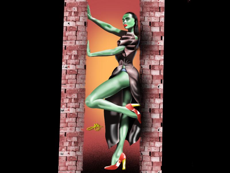 Super model illustration fashion illustration fashion infinite painter procreate designer animeart digitalartwork graphic artsy arts girl character drawings digital illustration characterdesign