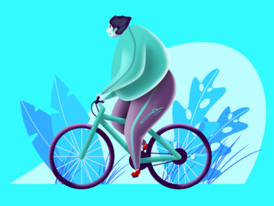 Cycling || Digital Art