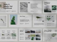 Abbee - a minimalist Powerpoint template