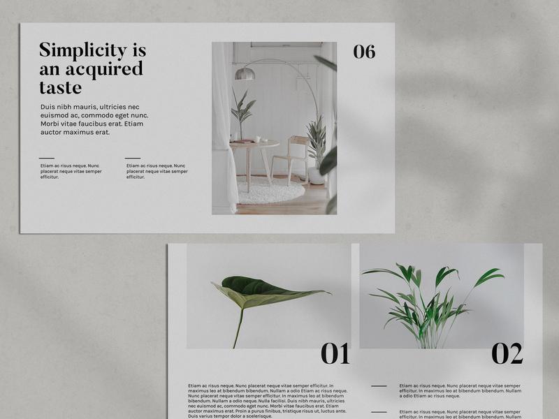 Abbee minimalist scandinavian design powerpoint template powerpoint powerpoint design graphic design
