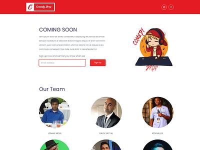 ComedyDrop.com signup page signupform responsive vector branding landing page website flat design web ui design