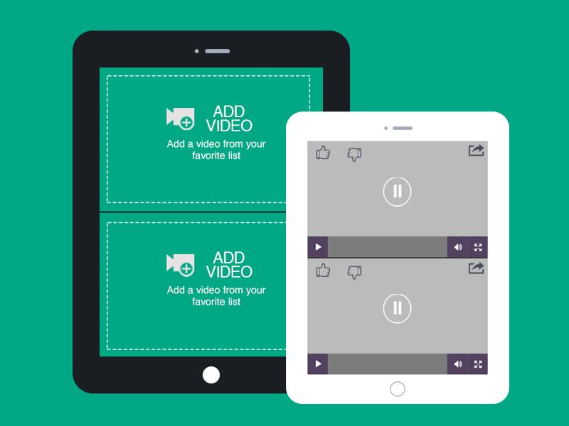 Video App Concept tablet ux ui video design flat design