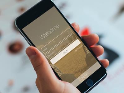 Log In flat design design mockup app password email field sign up mobile form login ui